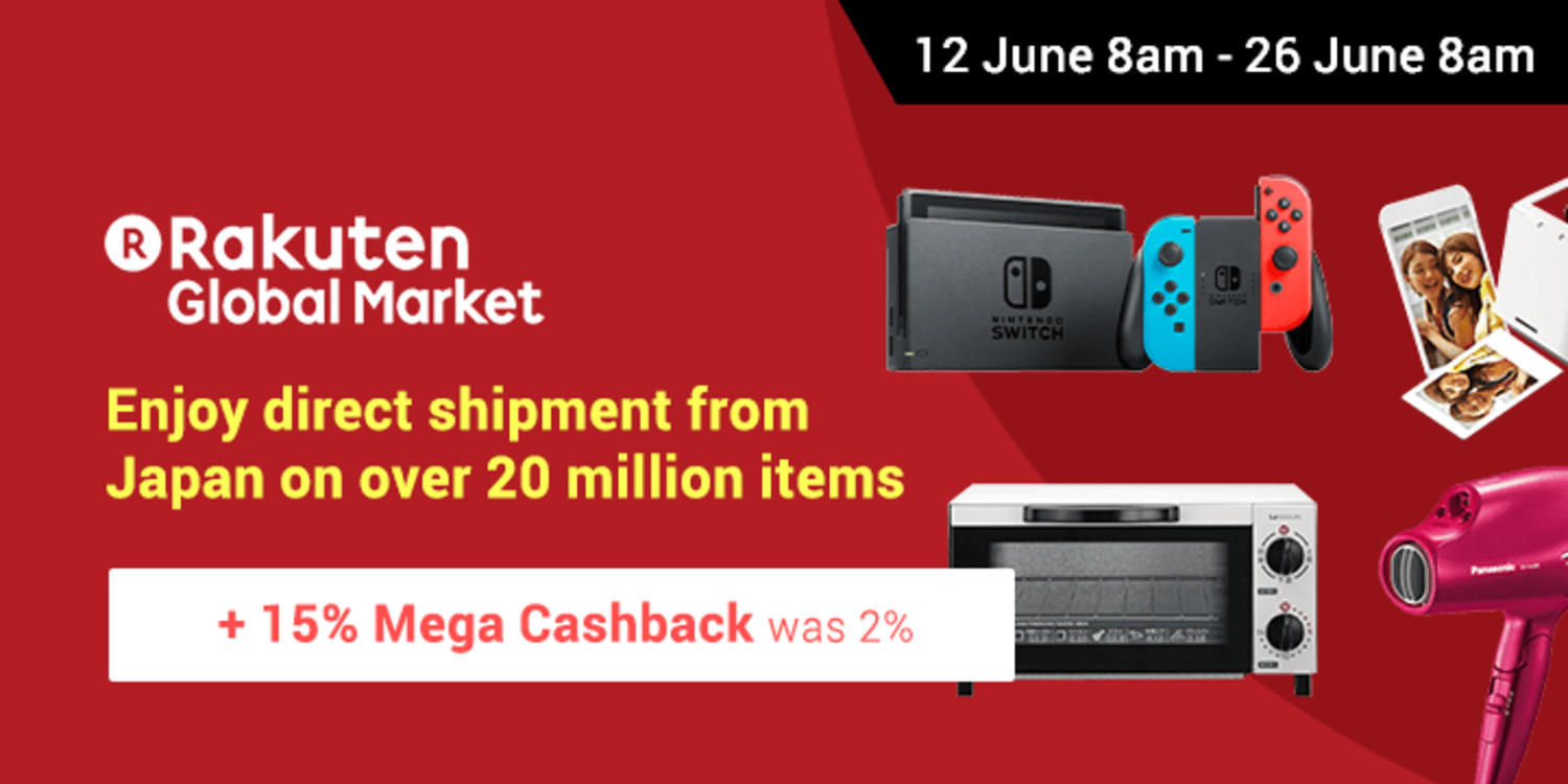 Ends 26 June 8am | Rakuten Global Market: Enjoy direct shipment from Japan on over 20 million items + 15% Mega  Cashback (Was 2%)