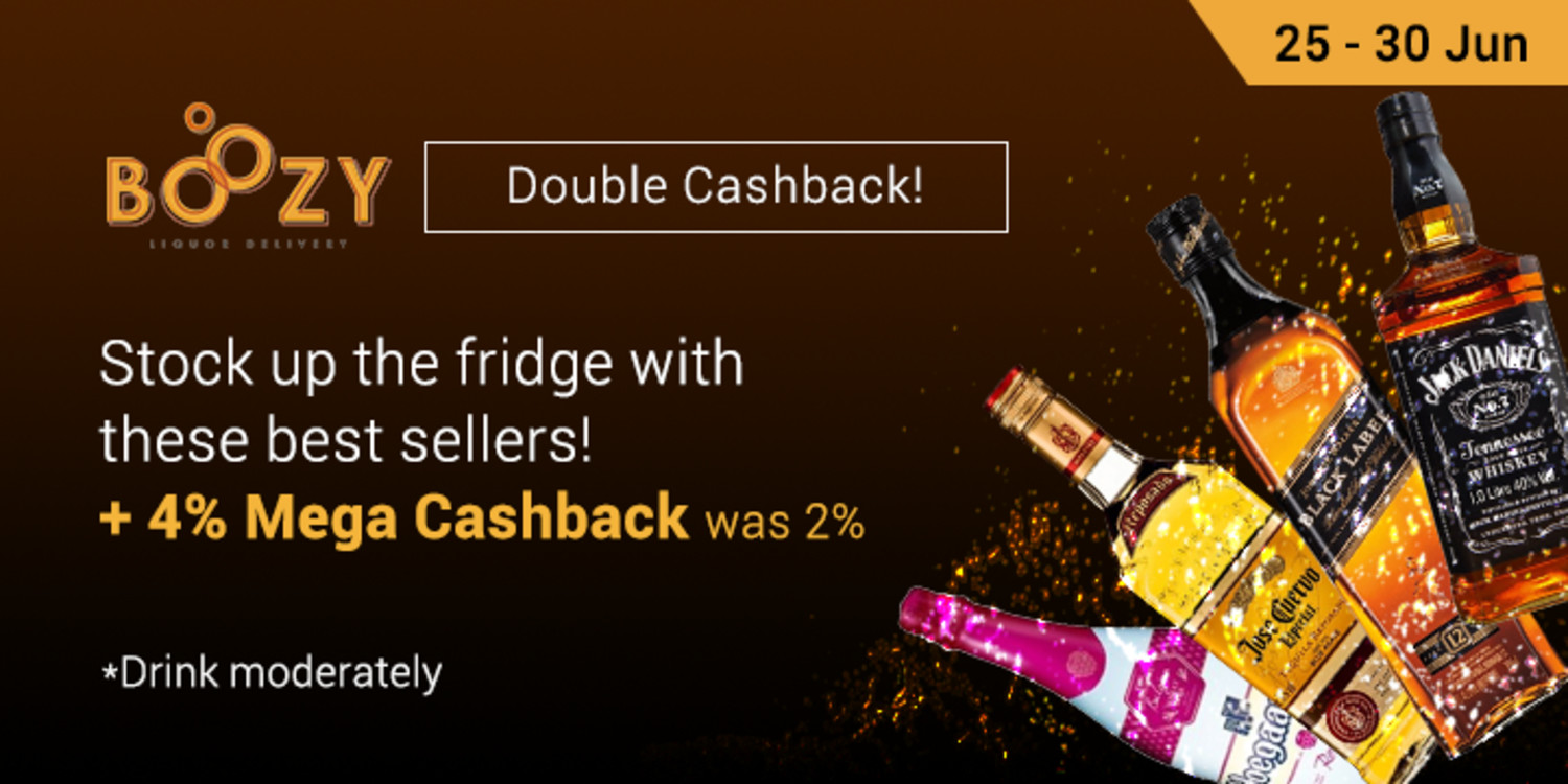 Ends 30 Jun | Boozy: Stock up the fridge with these best sellers! + 4% Cashback (was 2%)