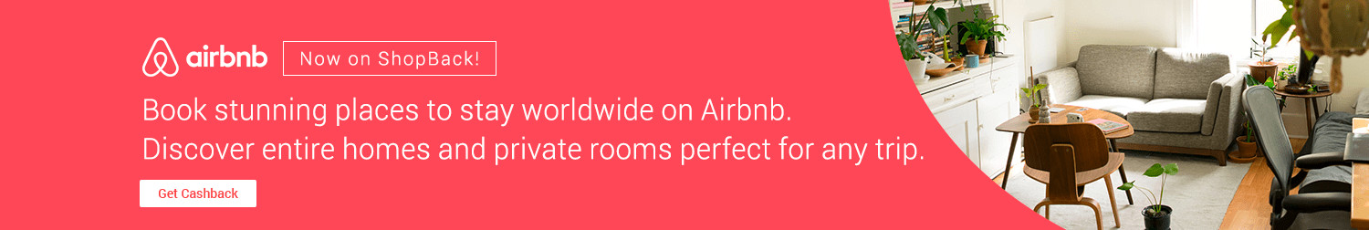 Airbnb now on ShopBack | Book stunning places to stay worldwide on Airbnb. Discover entire homes and private rooms perfect for any trip.