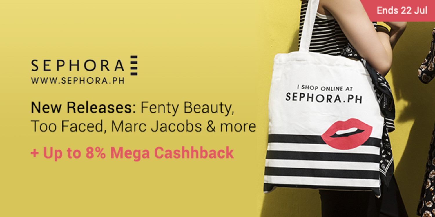 Ends 22 Jul | Sephora: New Releases: Fenty Beauty, Too Faced, Marc Jacobs & more + Up to 8% Mega Cashhback (was <5%)