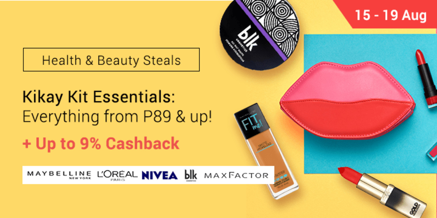Aug 15 - 19 | Aug Kikay Kit Essentials: Everything from P89 & up! + Up to 9% Cashback