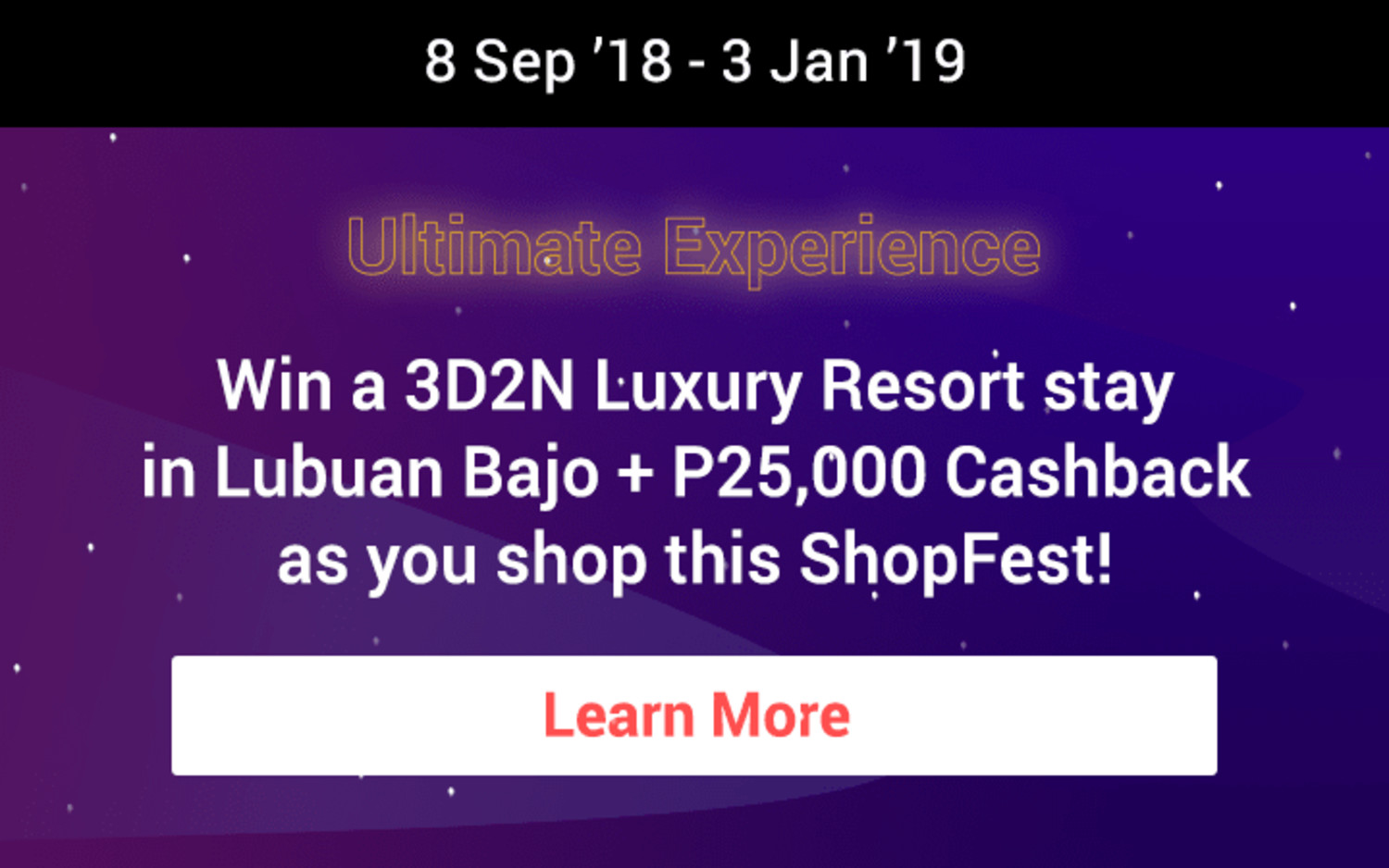 ShopFest | Win the Ultimate Experience