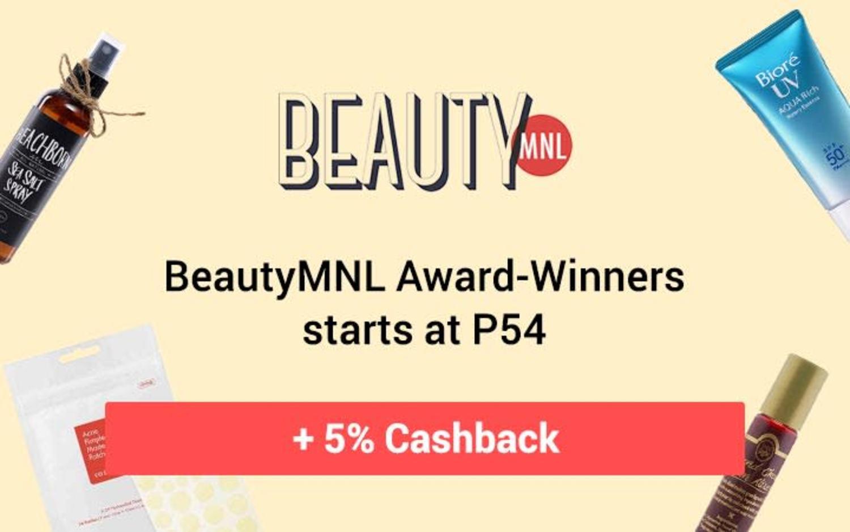 BeautyMNL Award-Winners starts at P54 + 5% Cashback