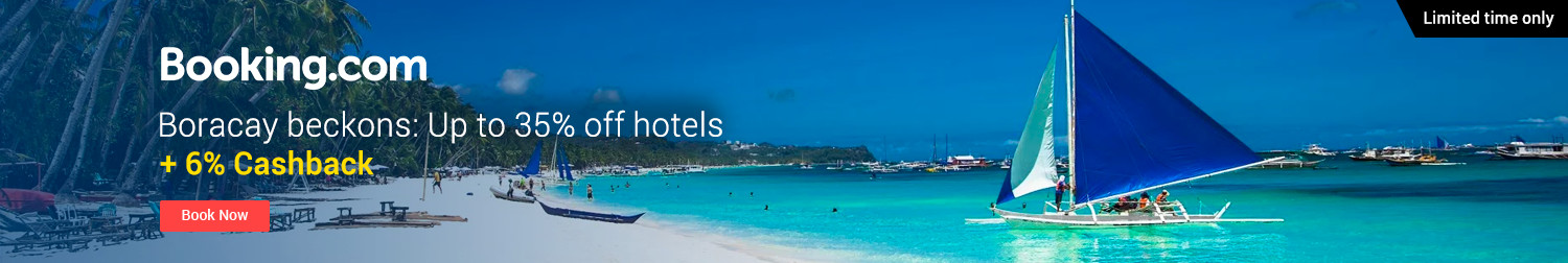 Booking.com | Boracay beckons: Up to 35% off hotels + 6% Cashback