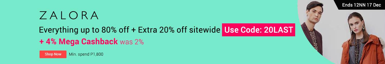 ZALORA | Style Edit: Everything under P100 + 4% Mega Cashback
