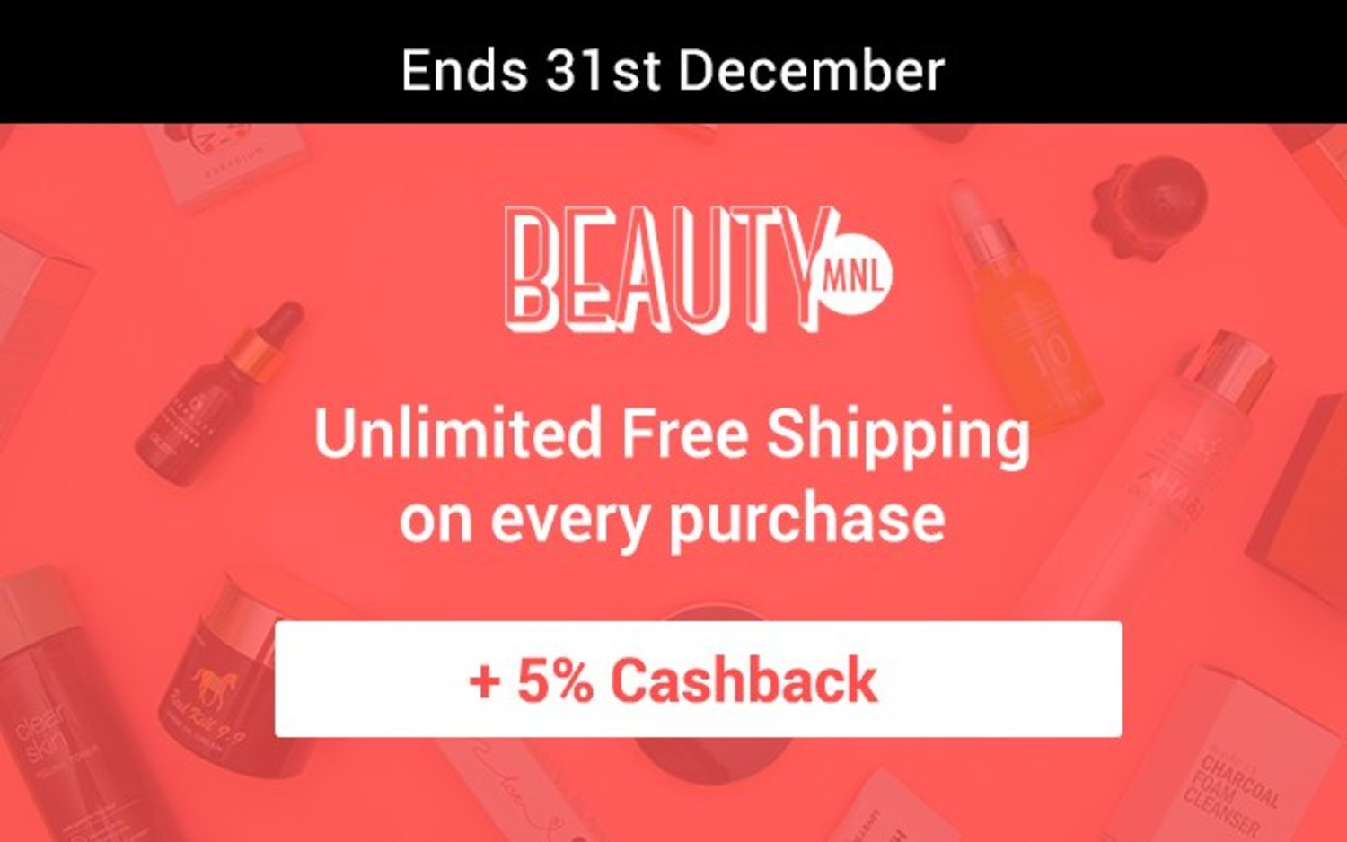 beautymnl 12 Days of Christmas Deals: A different beauty deal everyday + 5% Cashback