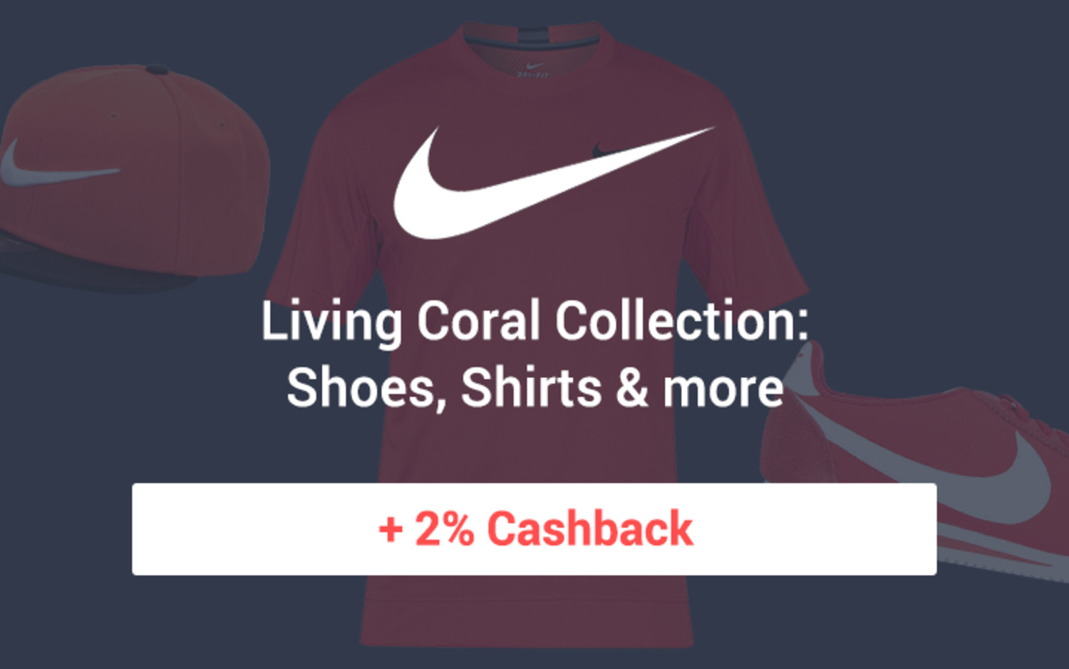 Nike Living Coral Collection: Shoes, Shirts & more + 2% Cashback