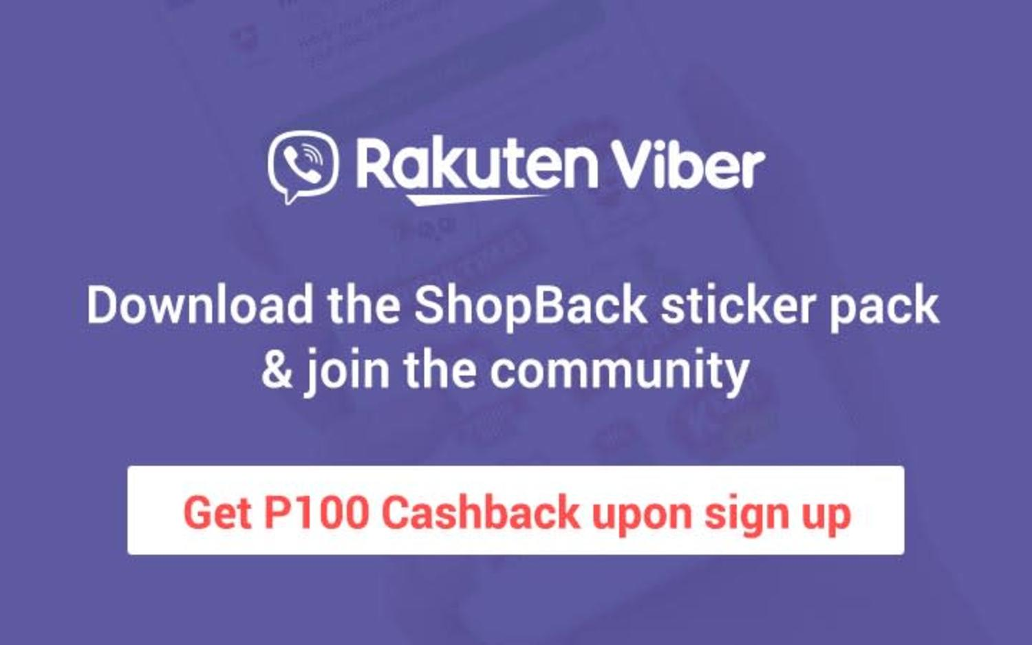 Rakuten Viber: Download the ShopBack sticker pack & join the community