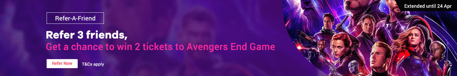 Extended until 24 Apr | Refer your friends to ShopBack and win Avengers: Endgame tickets