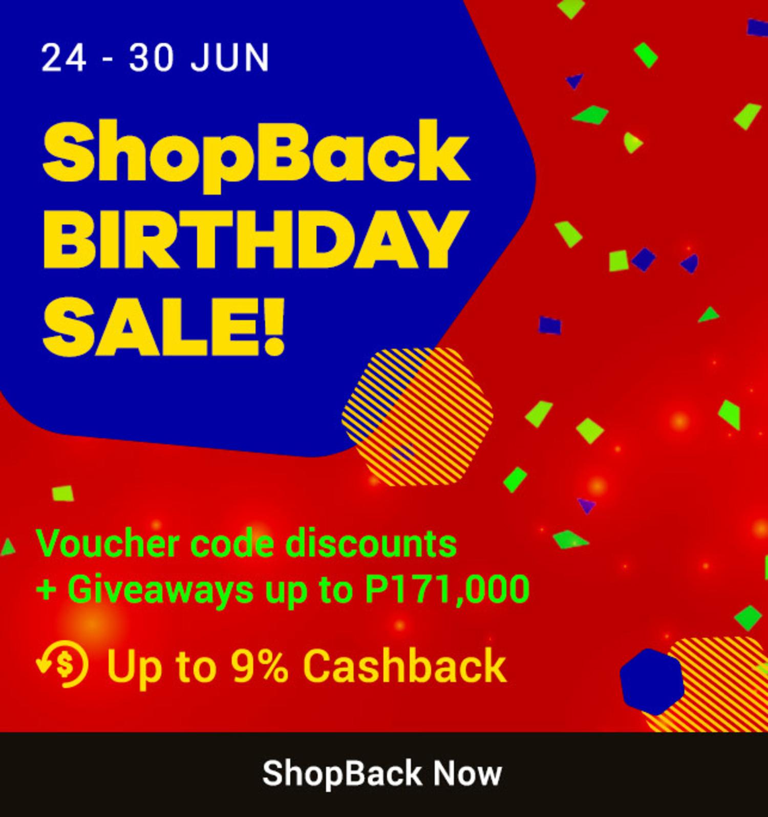 ShopBack Birthday Sale: Day 1 | Up to 30% Mega Cashback