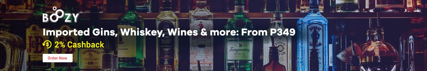 Boozy Imported Gins, Whiskey, Wines & more: From P349 + 2% Cashback
