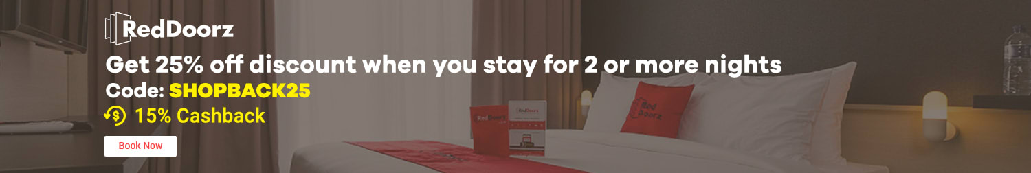 Reddoorz Get 25% off discount when you stay for 2 or more nights