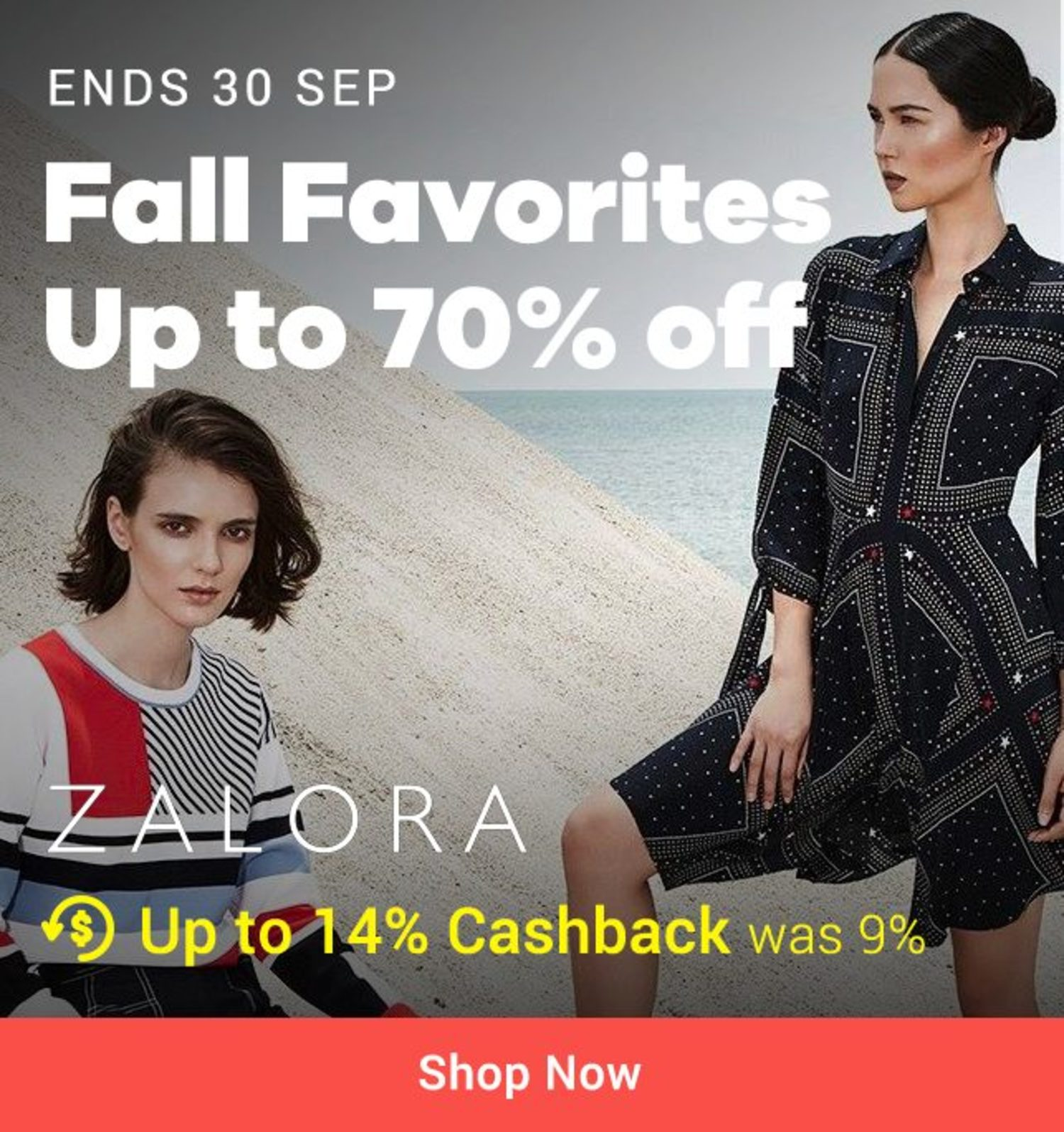 ZALORA 70% off on Latest Fashion Staples