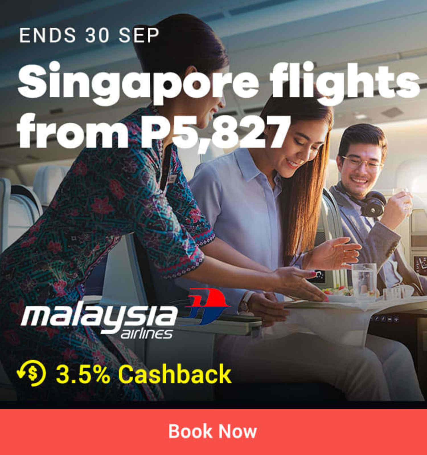 Malaysia Airlines: Singapore flights from P5,827
