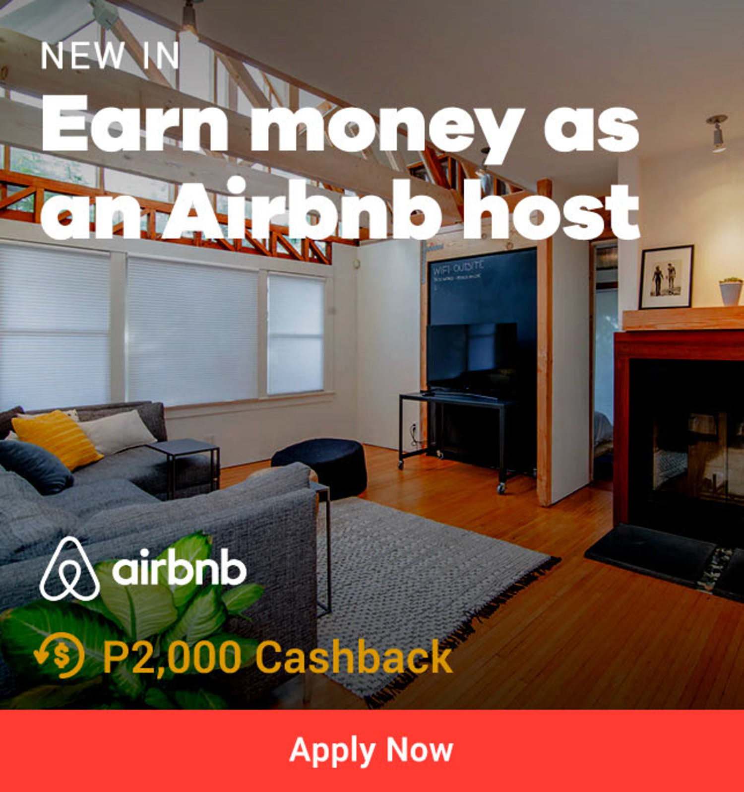 Earn money as on Airbnb host
