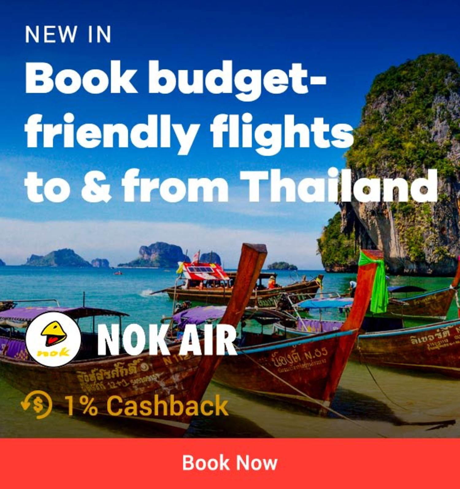 Nok Air: Book budget-friendly to & from Thailand
