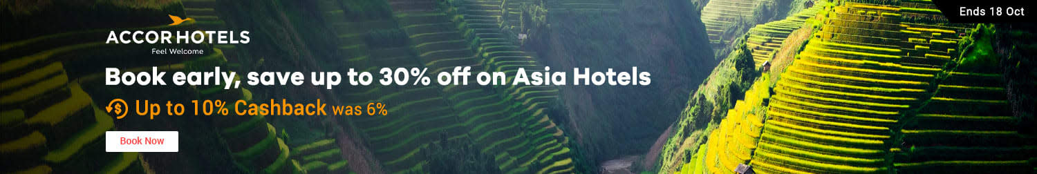 AccorHotels: Book early save up to 30% off on Asia hotels