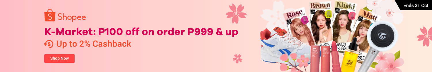 Shopee: KMartket P100 off on orders P999 above
