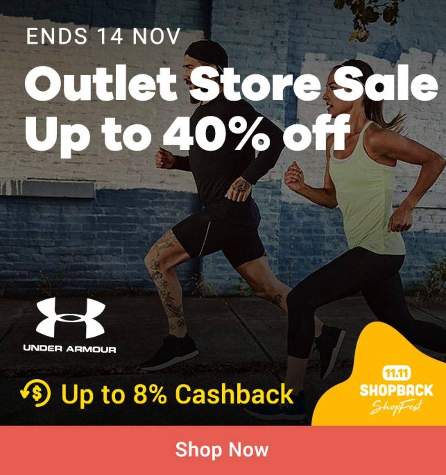 Under Armour: Outlet Store Sale Up to 40% off
