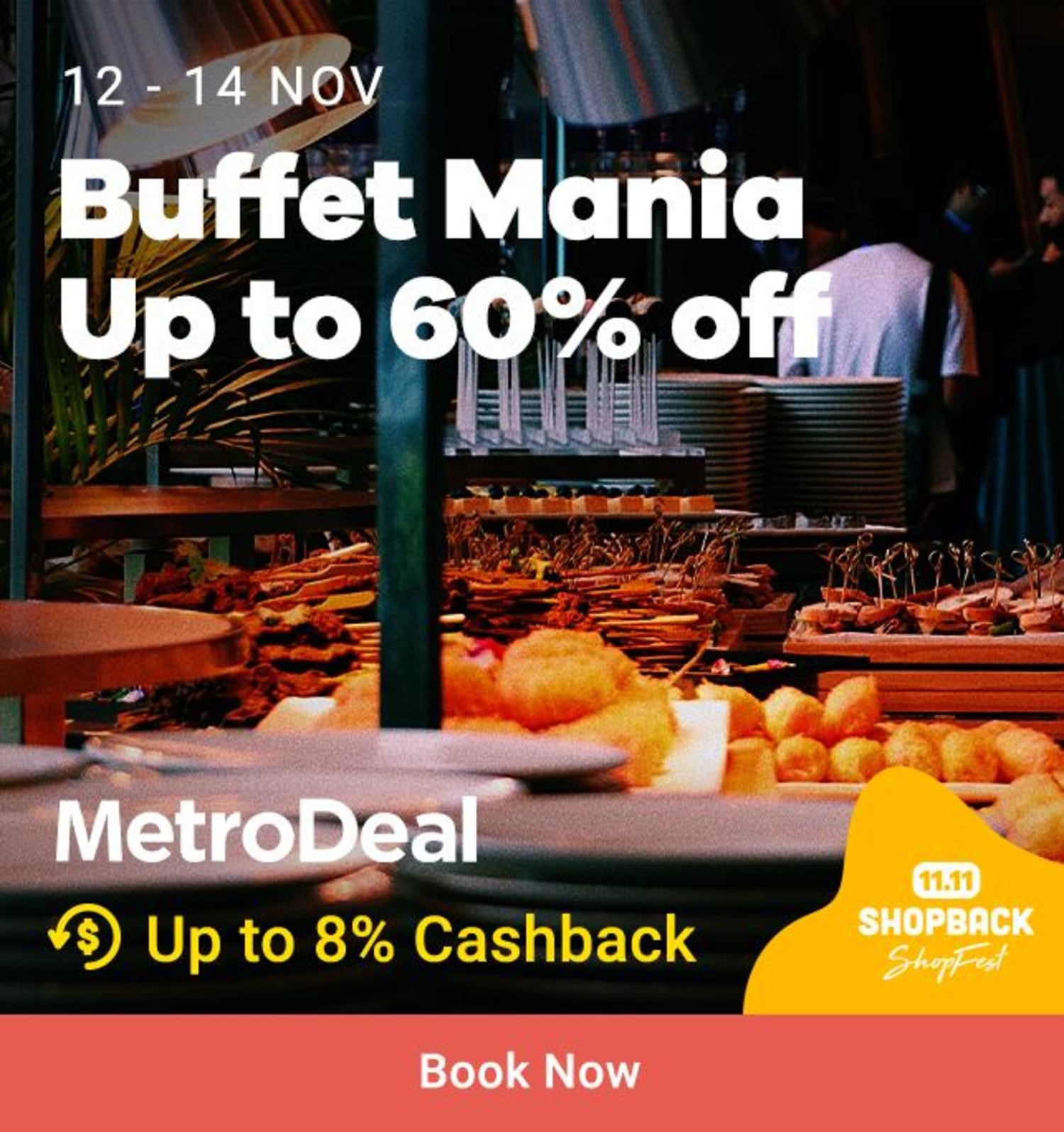 Metrodeal Buffet Mania Up to 60% off