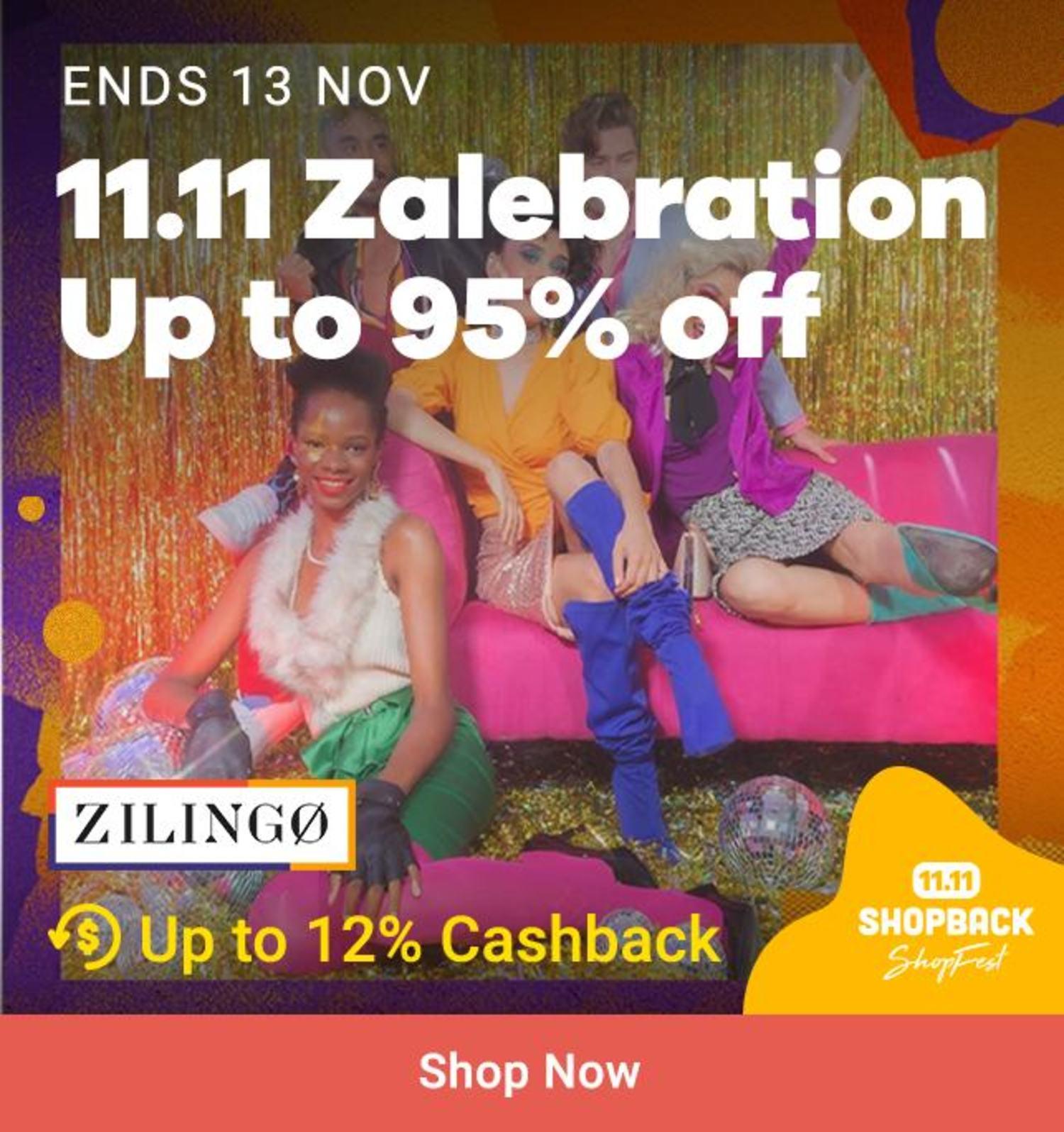 Zilingo: 11.11 Zalebration Up to 95% off