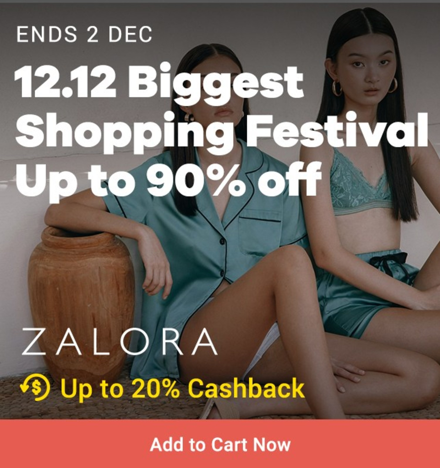 ZALORA: Pre 12.12 Sale Up to 90% off