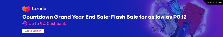Lazada: Countdown Grand Year End Sale