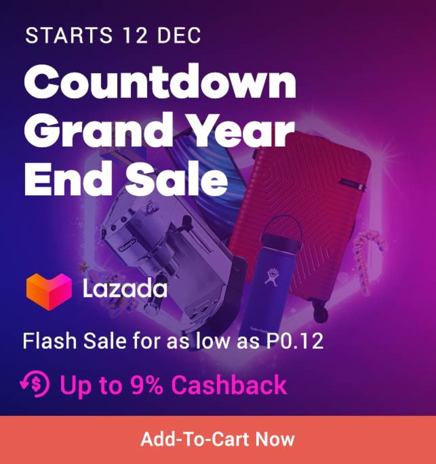 Lazada: Countdown Grand Year End Sale