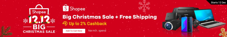 Shopee: Big Chritsmas Sale + Free Shipping