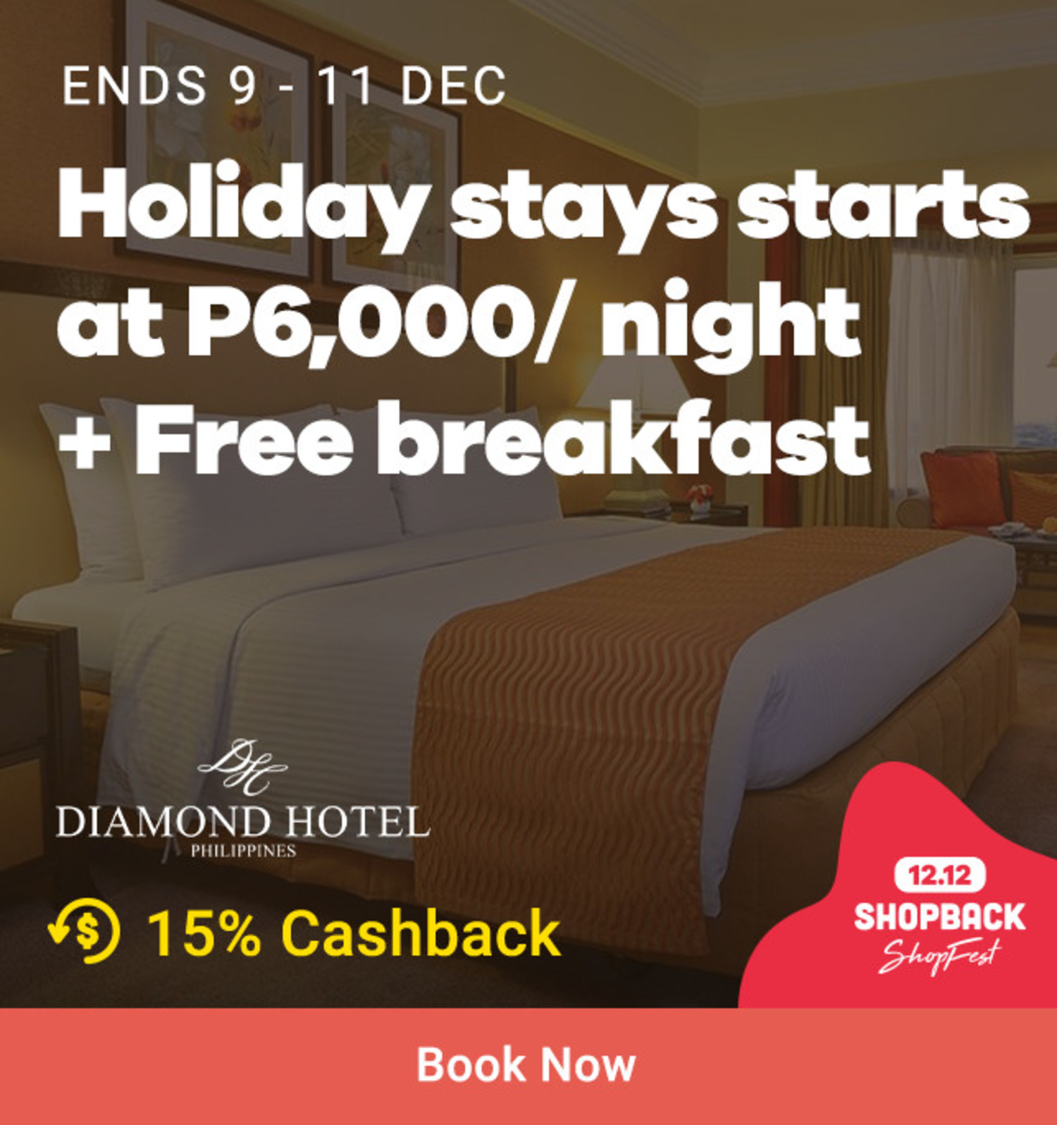 Diamond Hotel: Holiday stays starts at P6,000