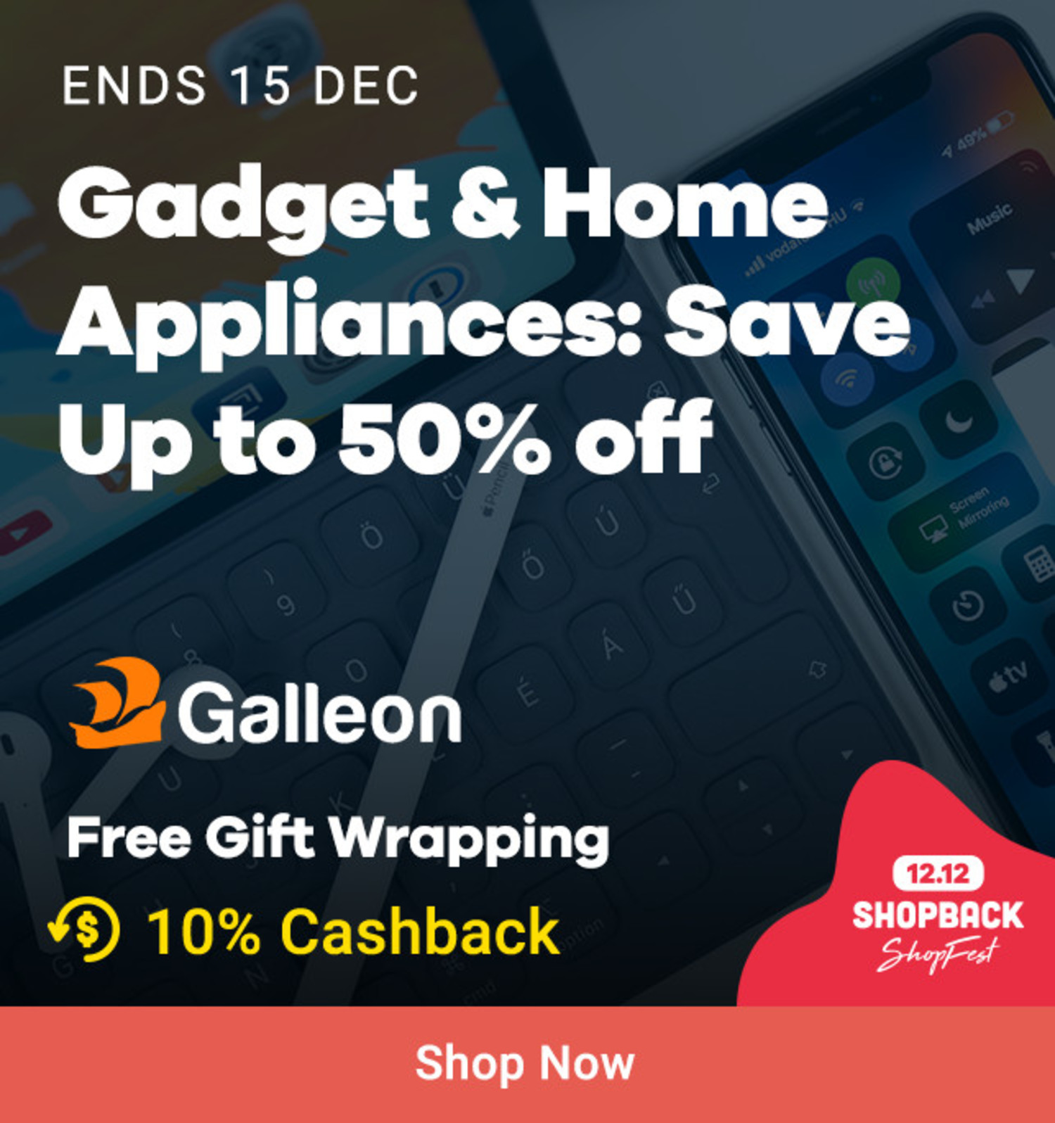 Galleon: Gadget & Home 50% off
