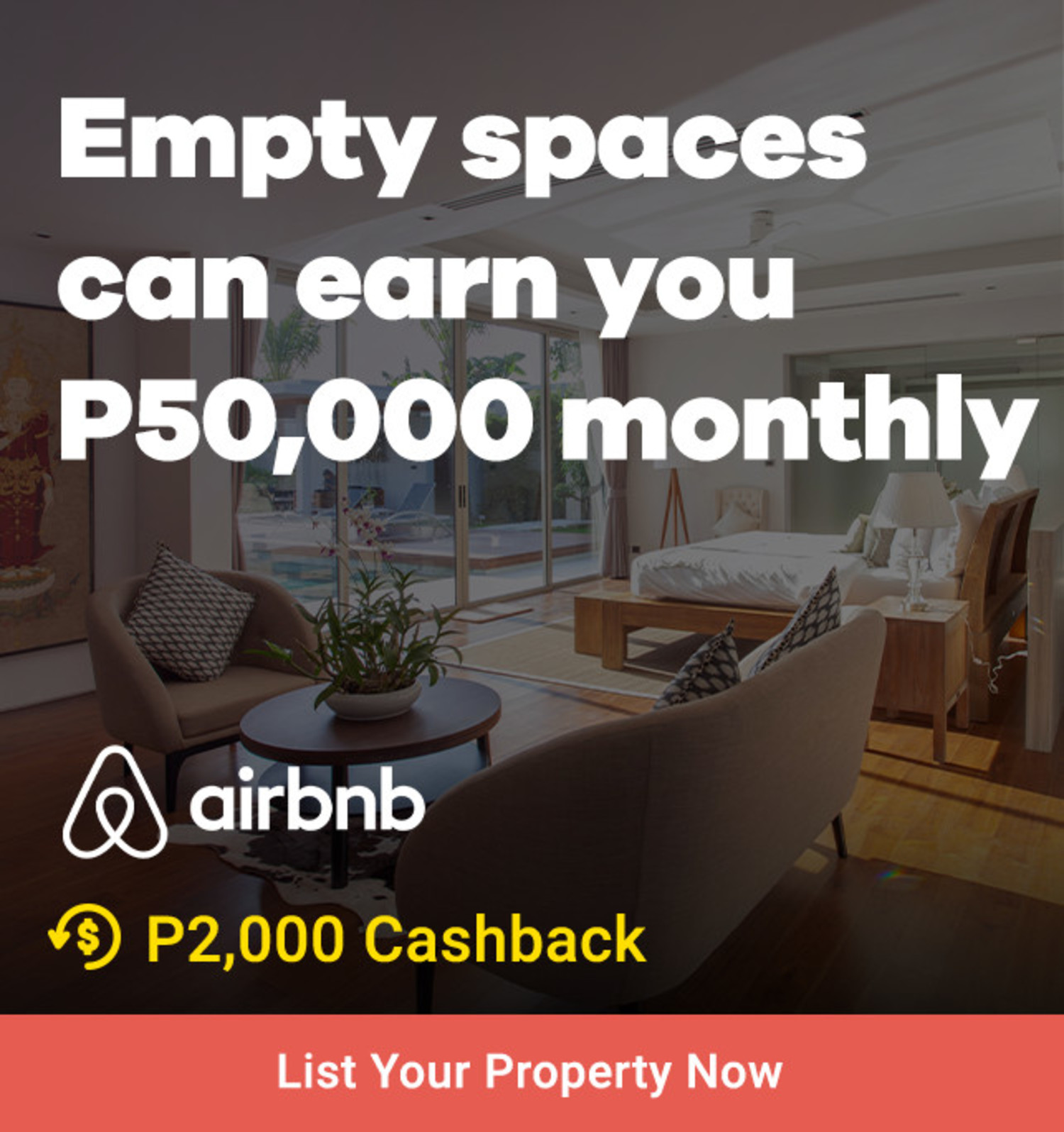 Airbnb Host: Empty spaces can earn you P50,000 monthly