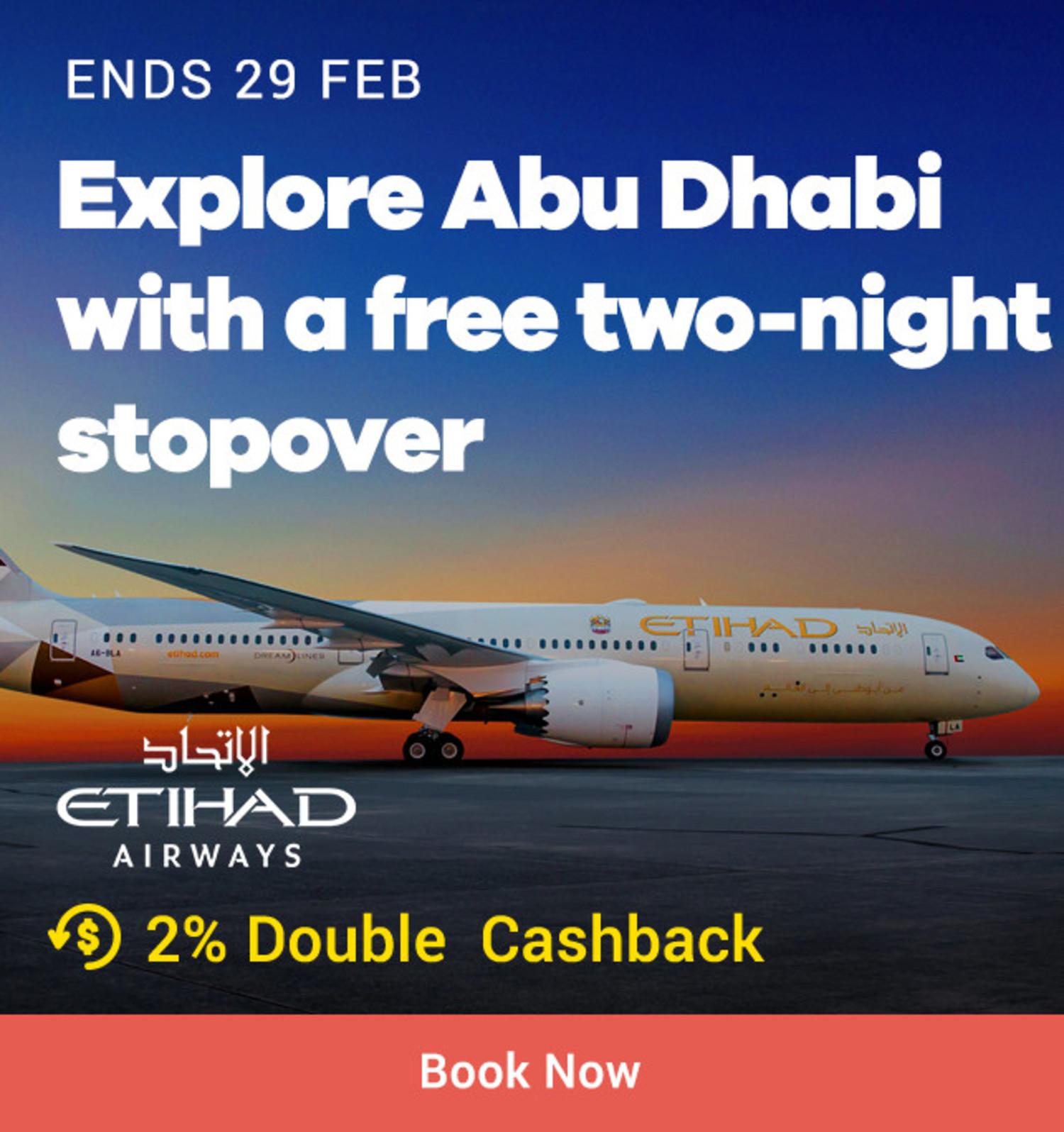 Etihad Airways: Explore Abu Dhabi with free two night stopover
