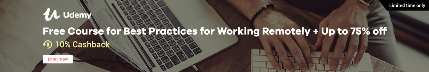 Udemy: Free Course for Best Practices for Working Remotely