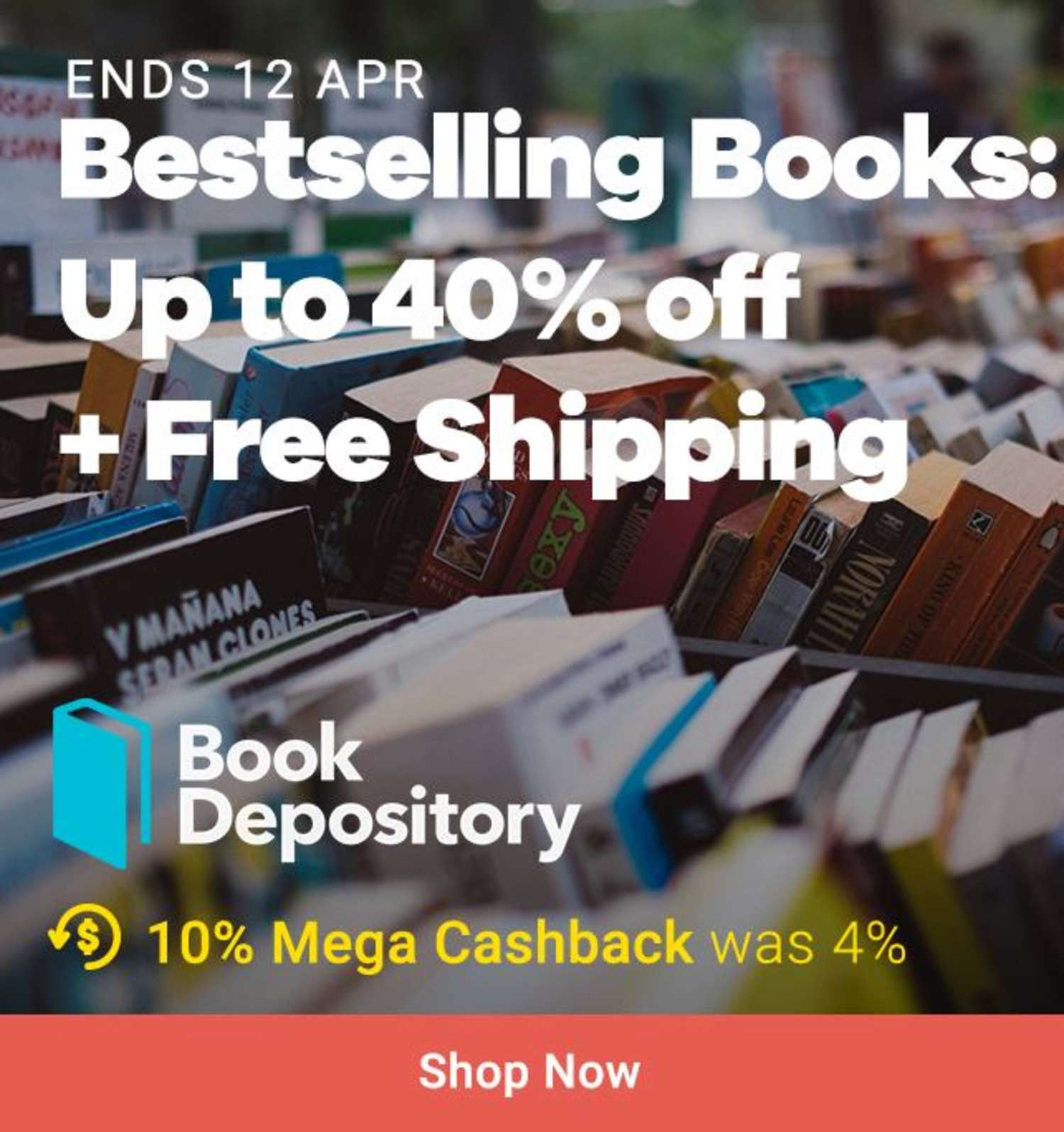 Book Depository: Bestselling Books 40% off + Free Shipping