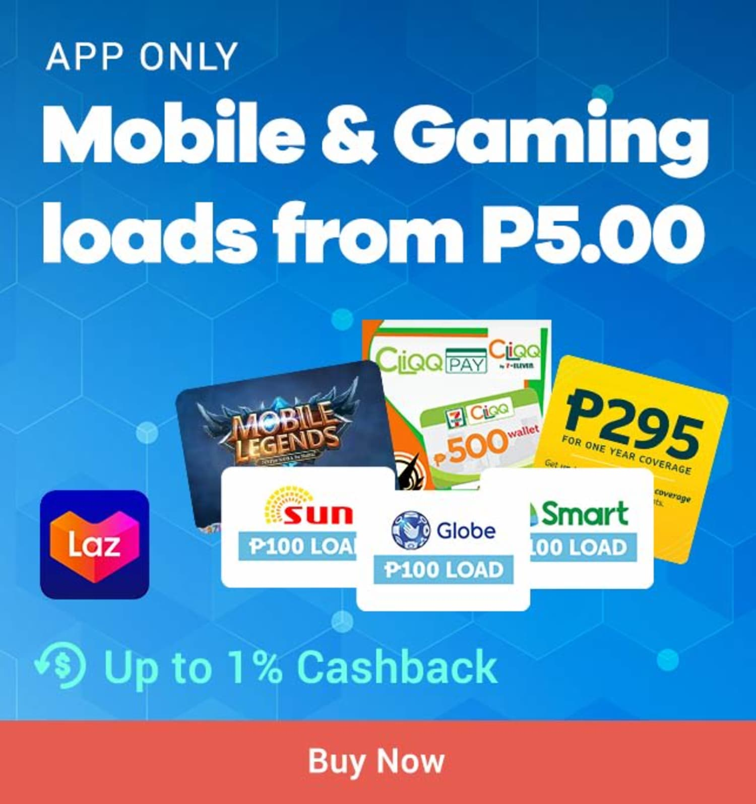 Lazada: Mobile & Gaming loads from P5