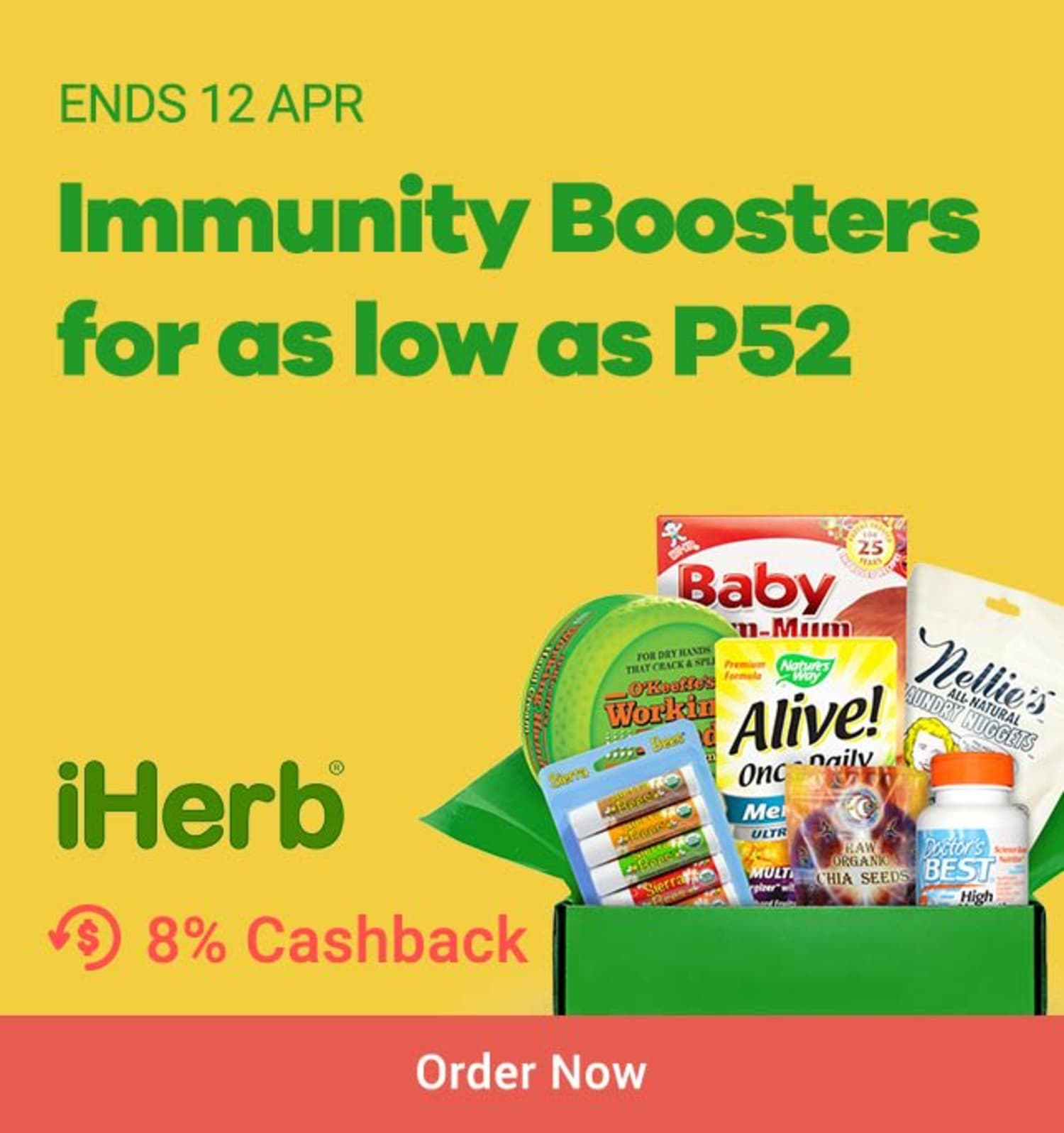 iHerb: Immunity Boosters for as low as P52