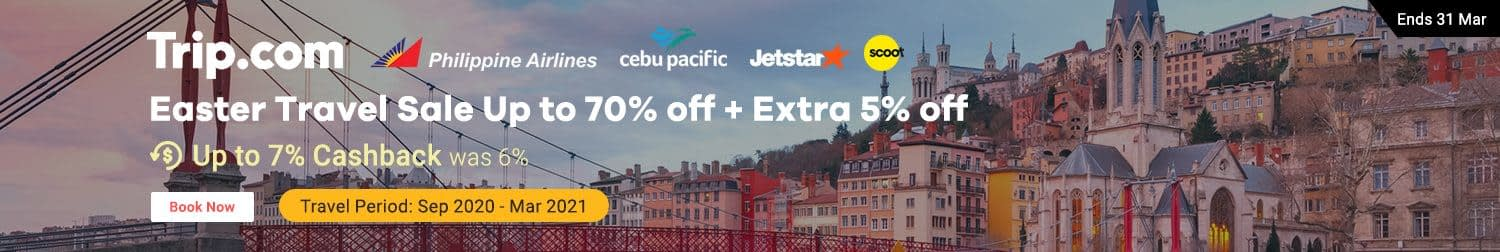 Trip.com: Easter Travel Up to 70% off