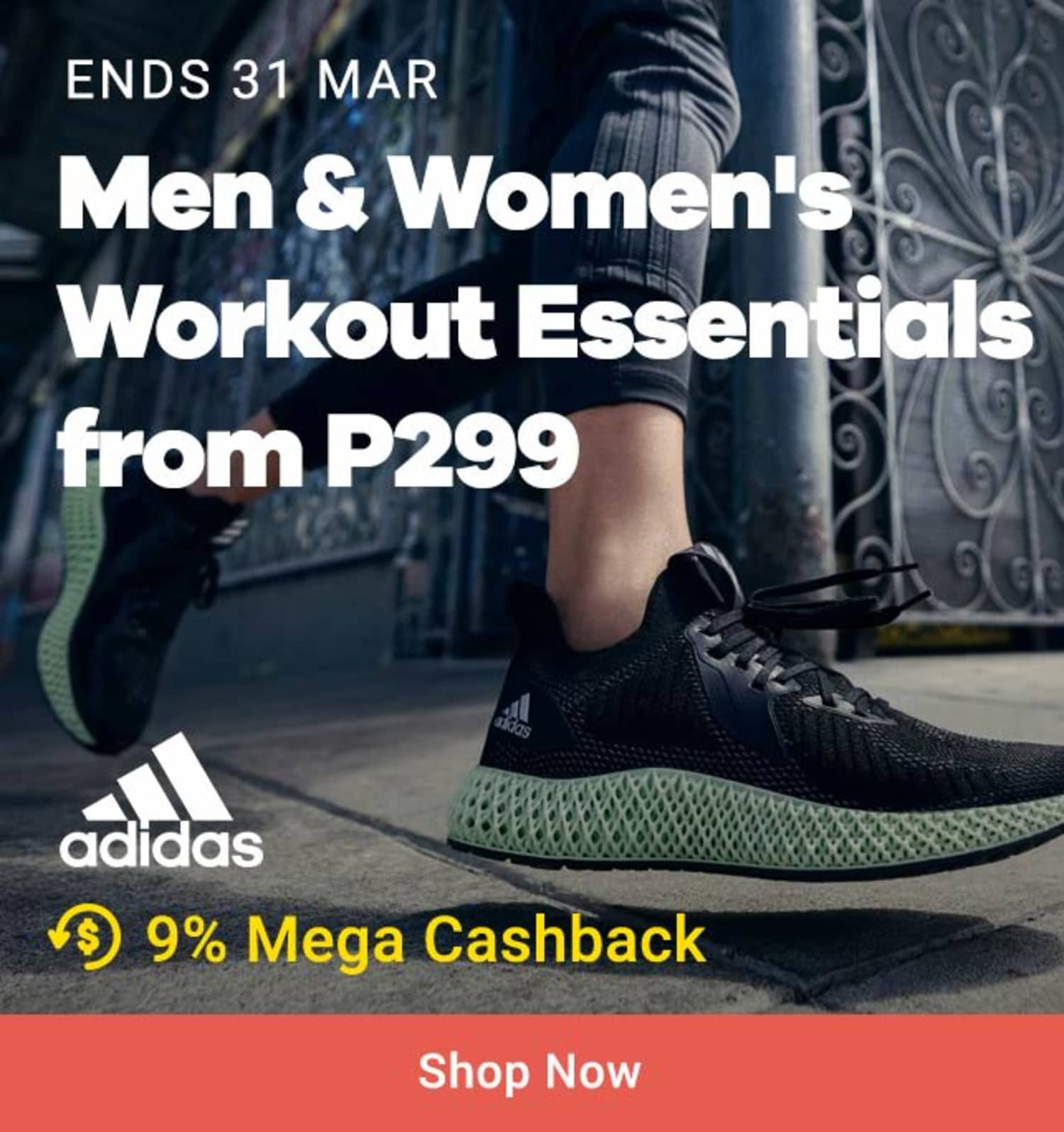 Adidas: Men & Women's Workout Essentials from P299
