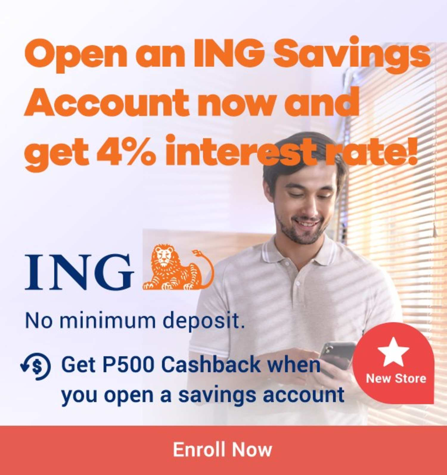 ING: Open an ING Savings account and get P500 Cashback