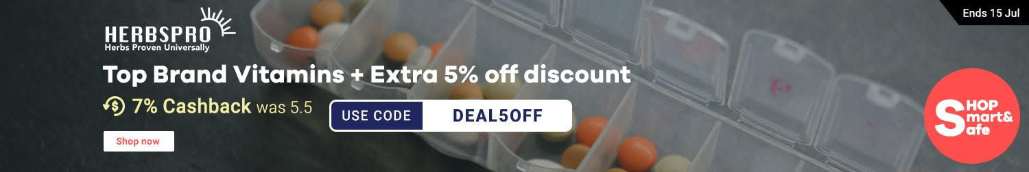Herbspro: Top Brand Vitamins + Extra 5% off discount