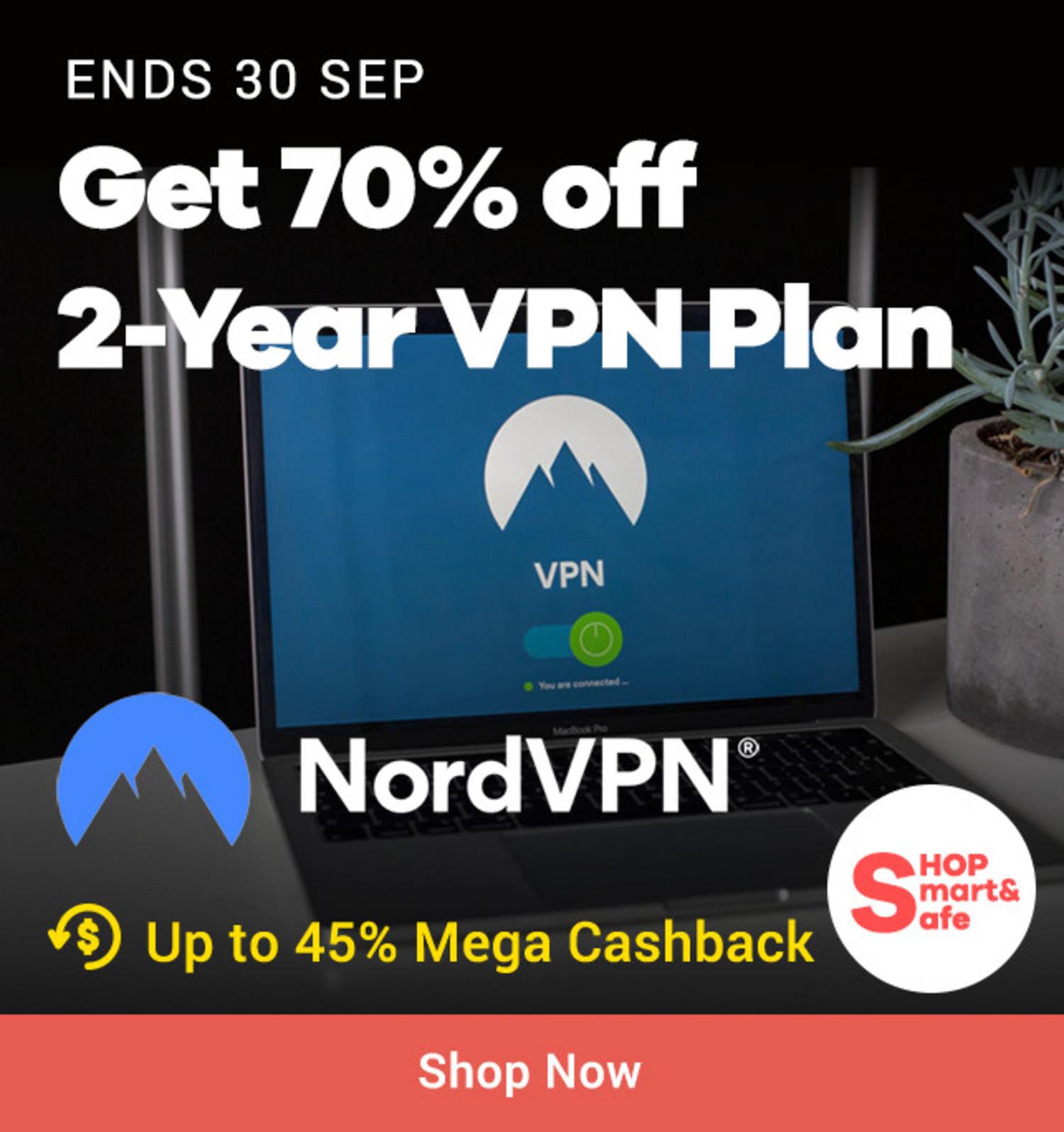 NordVPN: Get 70% off 2-Year VPN Plan