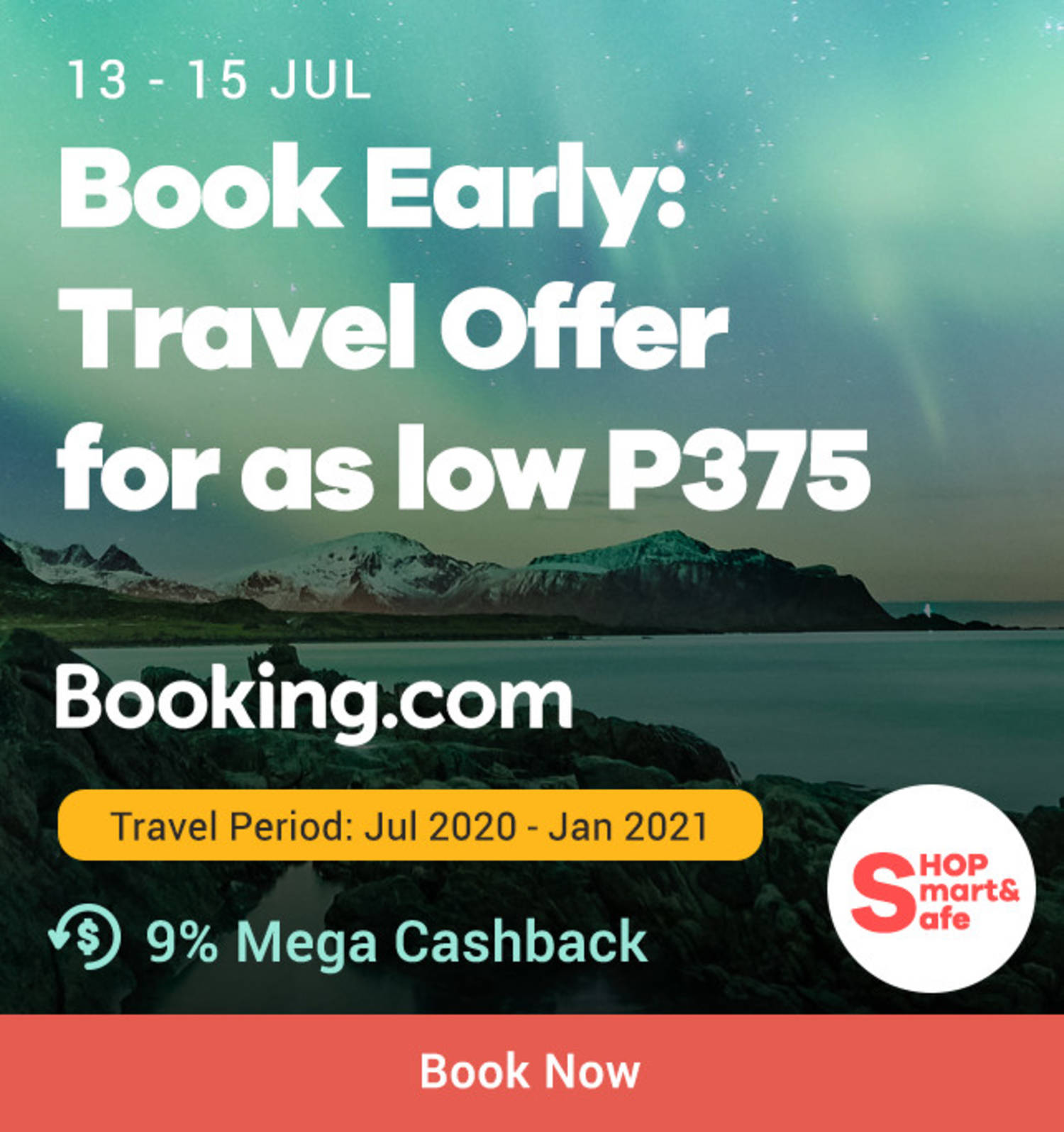 Booking.com: Book Early Travel Offer for as low as P375