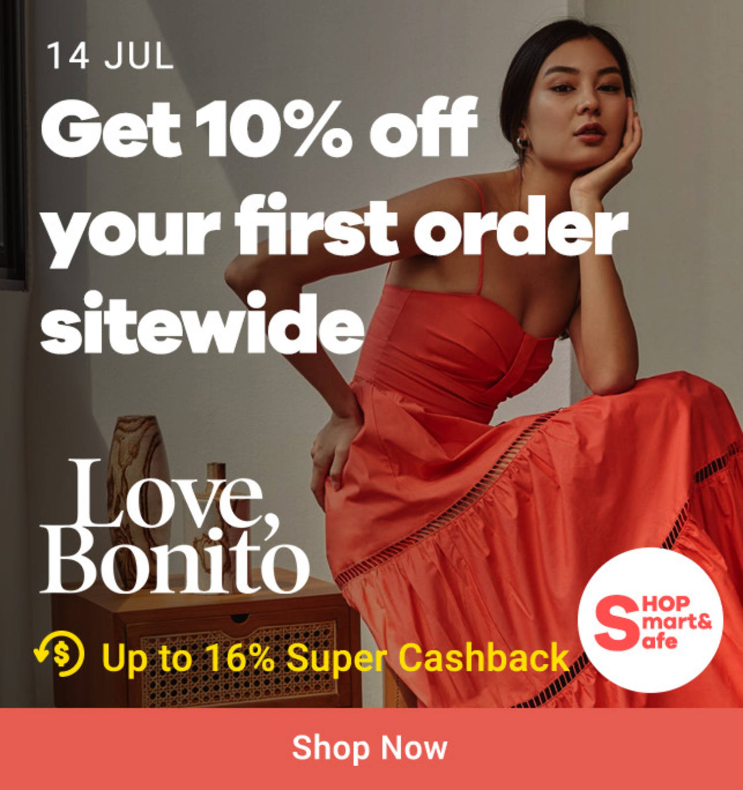 Love Bonito: Get 10% off your first order sitewide