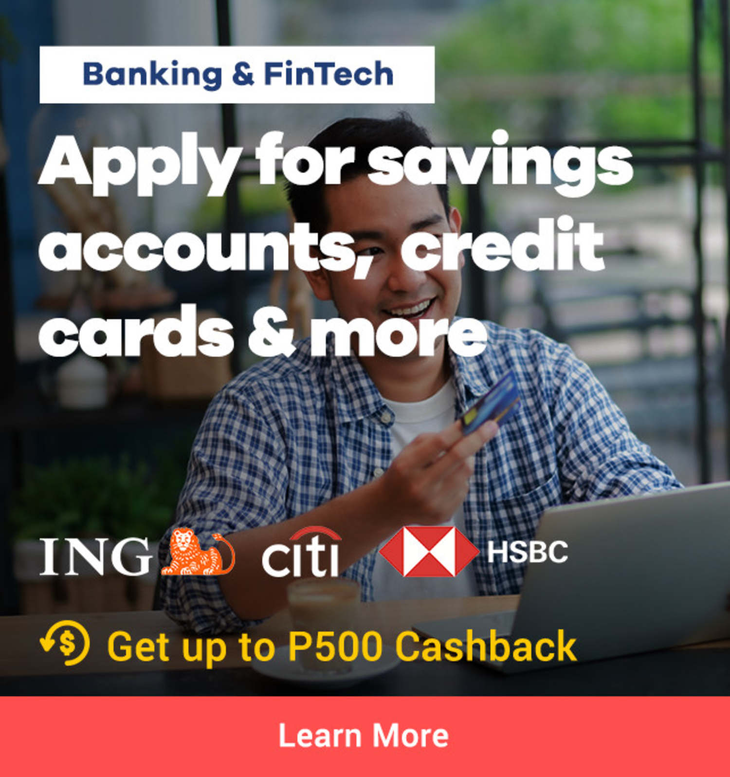 Bank with ShopBack, Get Cashback on Bank applications