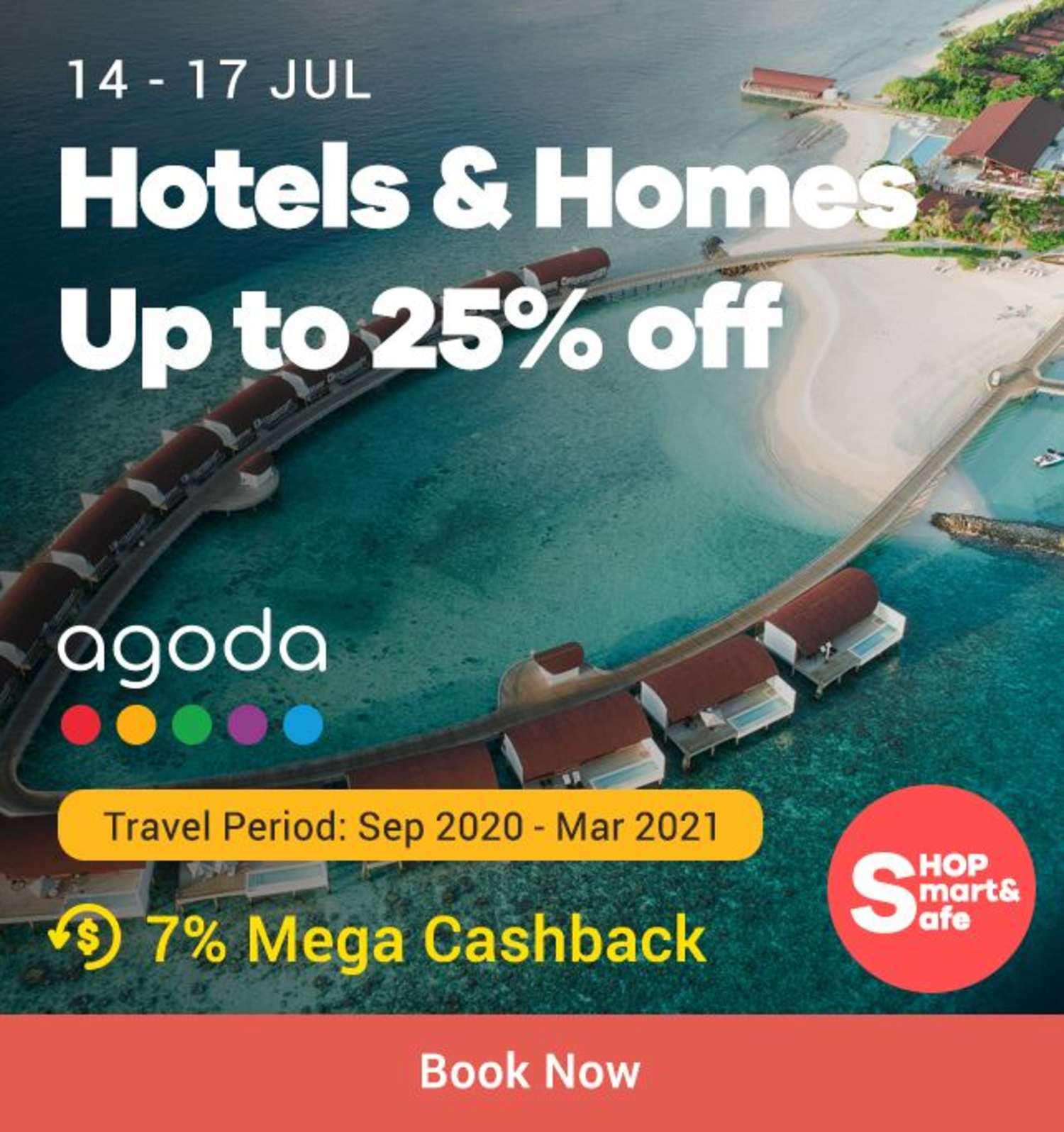 Agoda: Hotels & Homes Up to 25% off