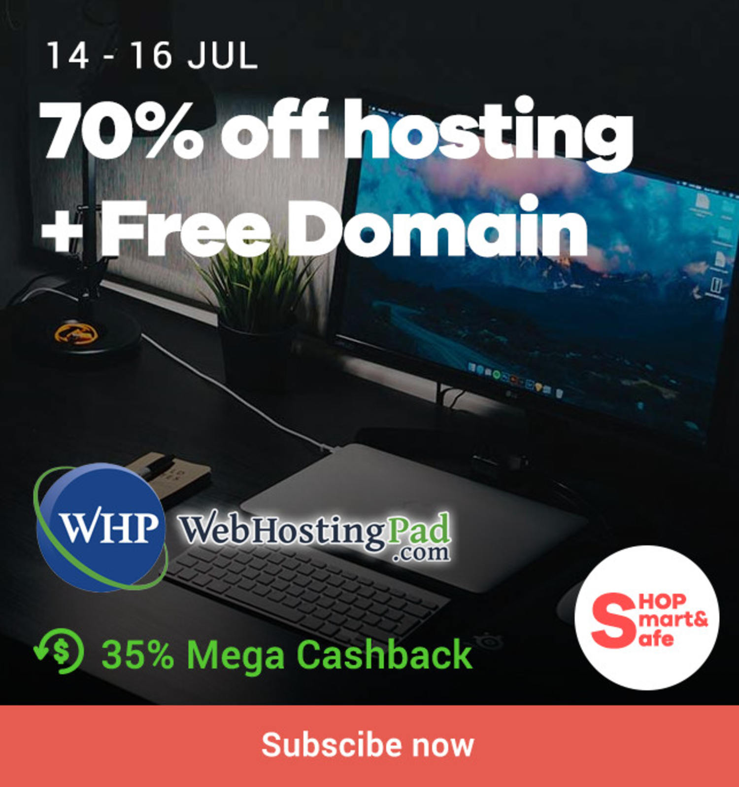 Web Hosting Pad: 70% off Hosting + Free Domain