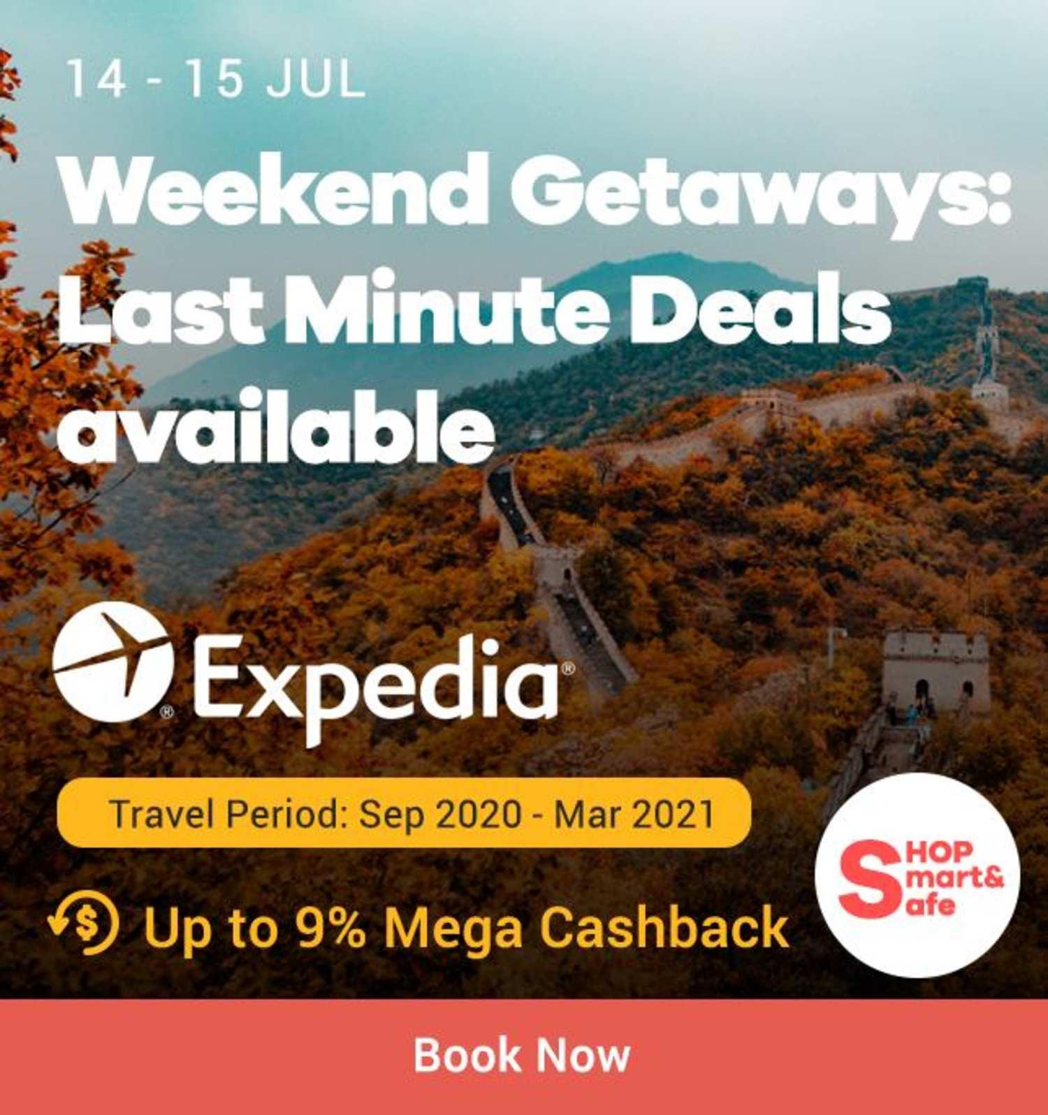 Expedia: Weekend Getaways Last Minute Deals Available