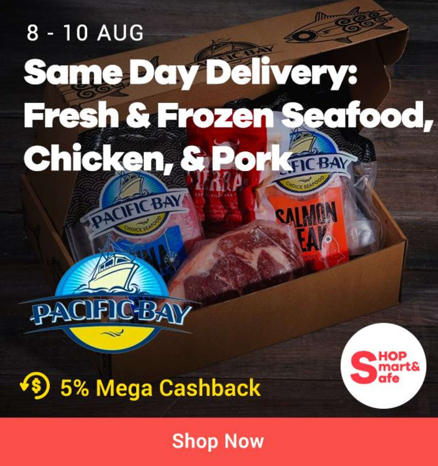Pacific Bay: Same Day Delivery Fresh & Frozen Seafood Chicken