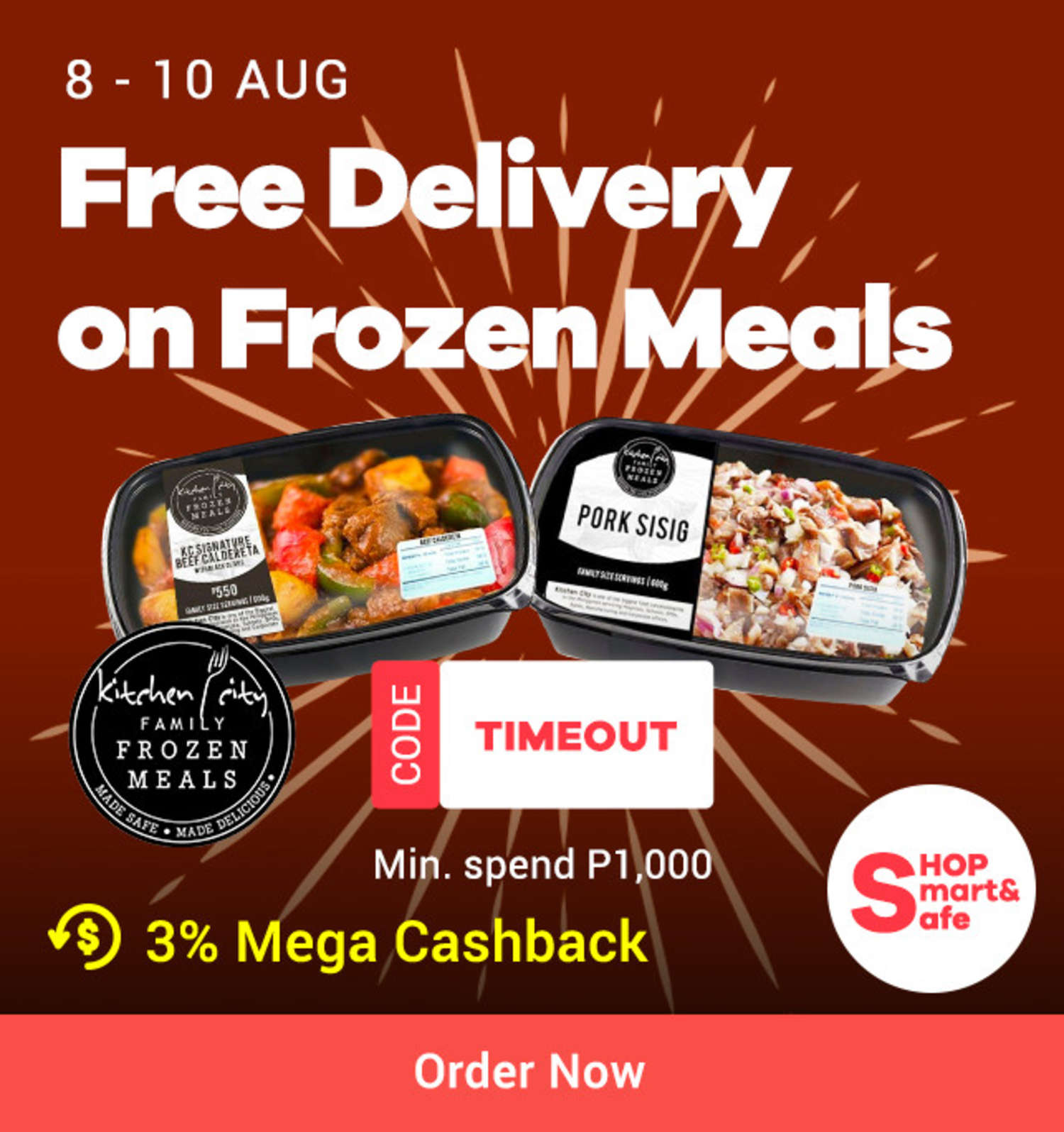Kitchen City: Free Delivery on Frozen Meals